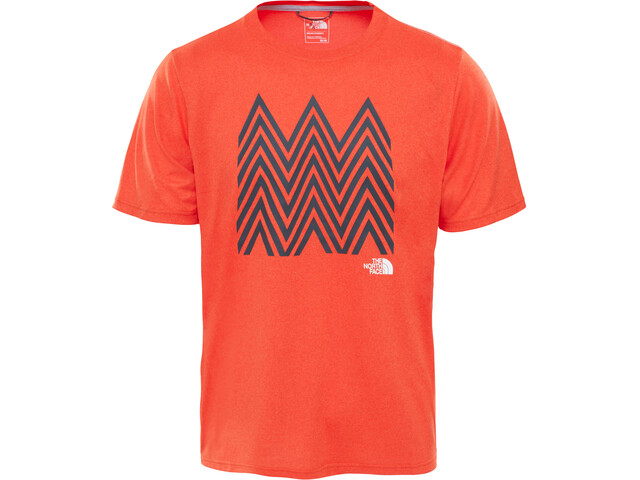 The North Face M's Graphic Reaxion AMP Crew Short Sleeve Shirt Acrylic Orange Heather
